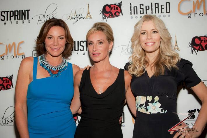 "Aviva Drescher, LuAnn de Lesseps, Sonja Morgan at ""Inspired In New York"" event (Photo by Yoni Levy)"