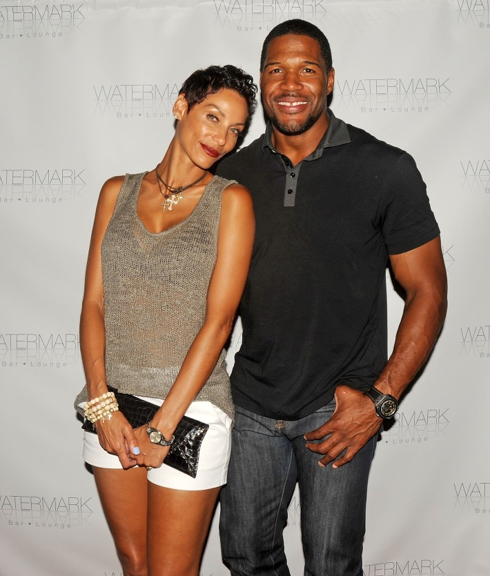 Michael Strahan and Nicole Murphy attend the Grand Opening of Watermark Bar (Photo by Yoni Levy)