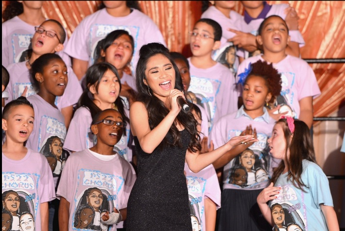 "Jessica Sanchez performs at The Trevor Project's 2013 ""TrevorLIVE"" Event"