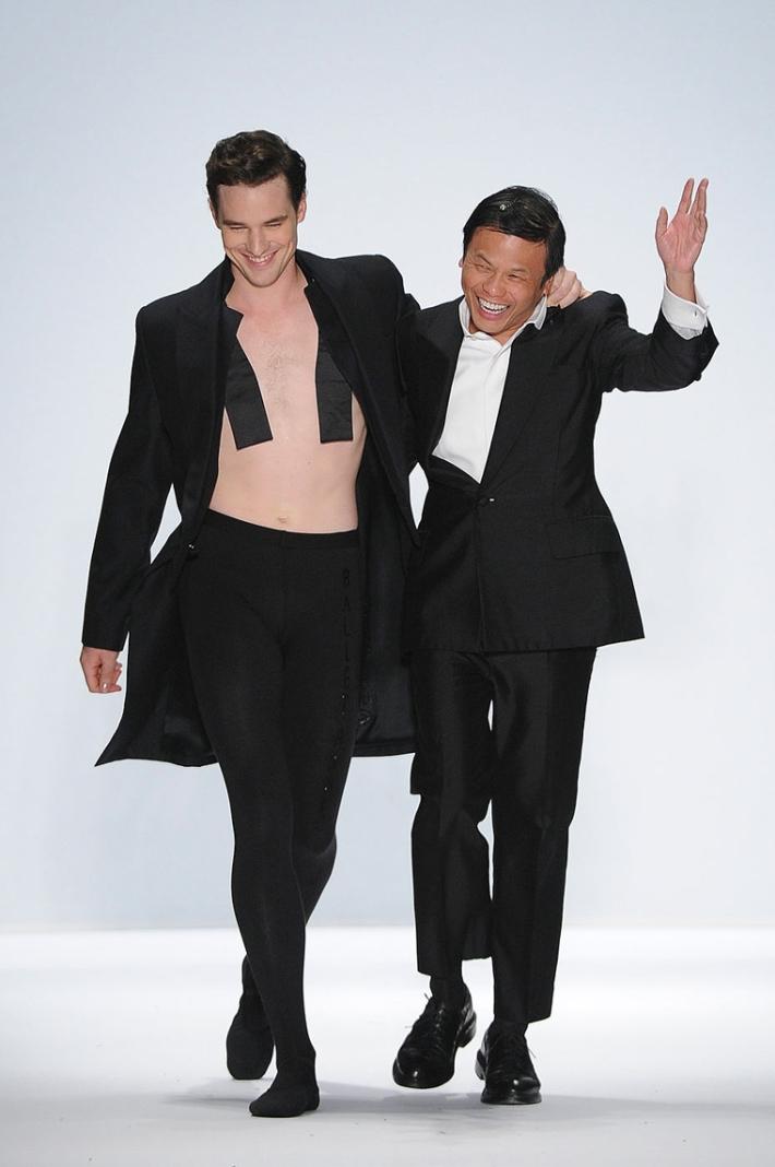 Designer Zang Toi and Ballet dancer Cory Stearn - Zang Toi Spring 2014 – Mercedes-Benz Fashion Week