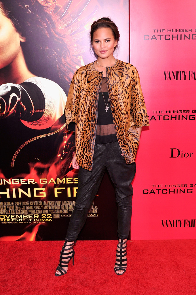 Chrissy Teigen attends the 'Hunger Games: Catching Fire' New York Premiere