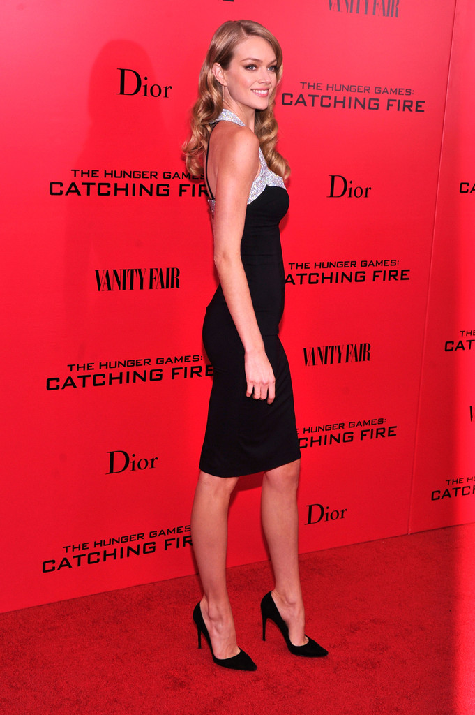 Model Lindsay Ellingson attends the 'Hunger Games: Catching Fire' New York Premiere