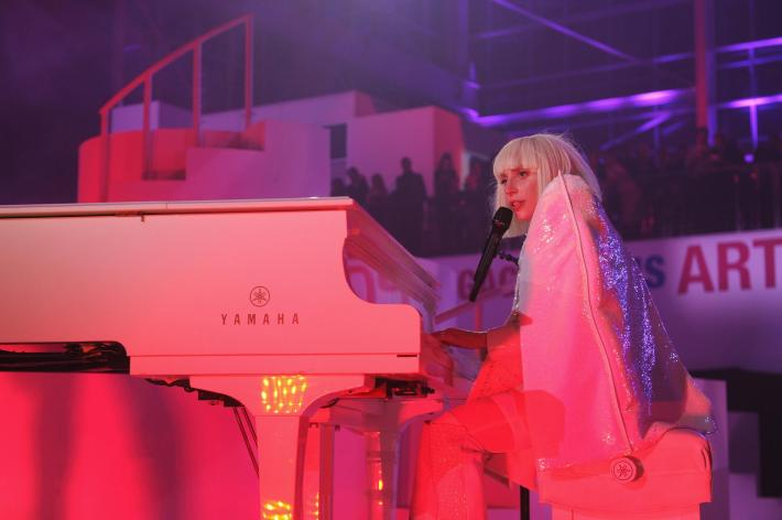 """Lady Gaga at artRAVE: """"Artpop"""" Official Album Release Party"""