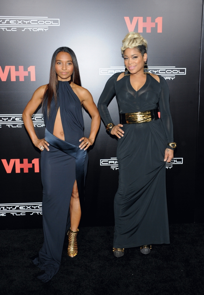 Chilli & T-Boz at CrazySexyCool: The TLC Story on VH-1 Premier Party