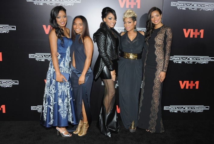 Keke Palmer, Chilli, Drew Sidora, T-Boz and Rochelle Aytes attends the CrazySexyCool Premiere Event