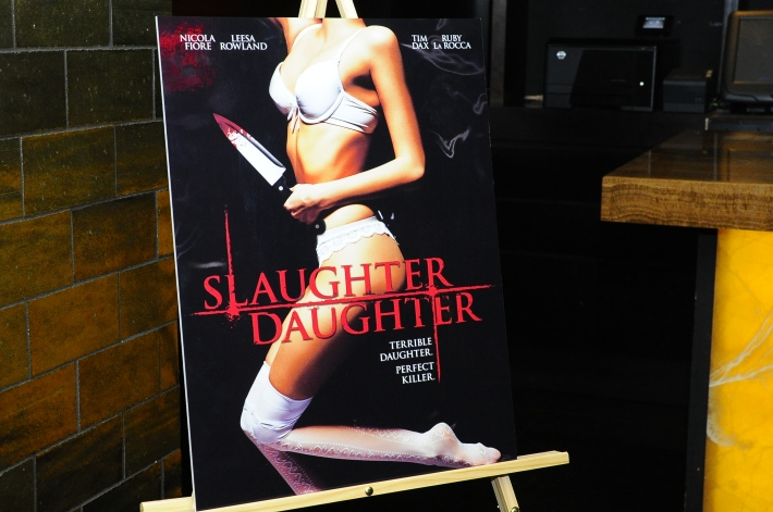 Film Poster at Slaughter Daughter Film Screening with Scream Queens Leesa Rowland & Nicola Fiore