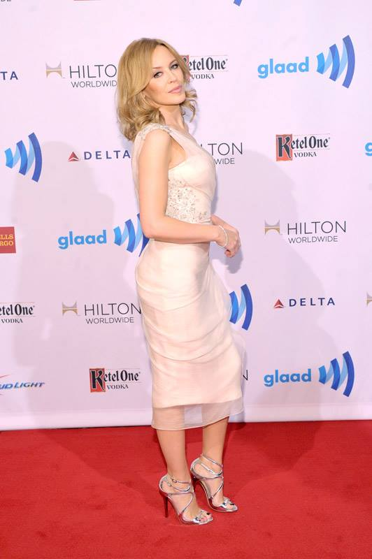 Kylie Minogue attends the 25th Annual GLAAD Media Awards in New York City (Photo by StephenLovekin)