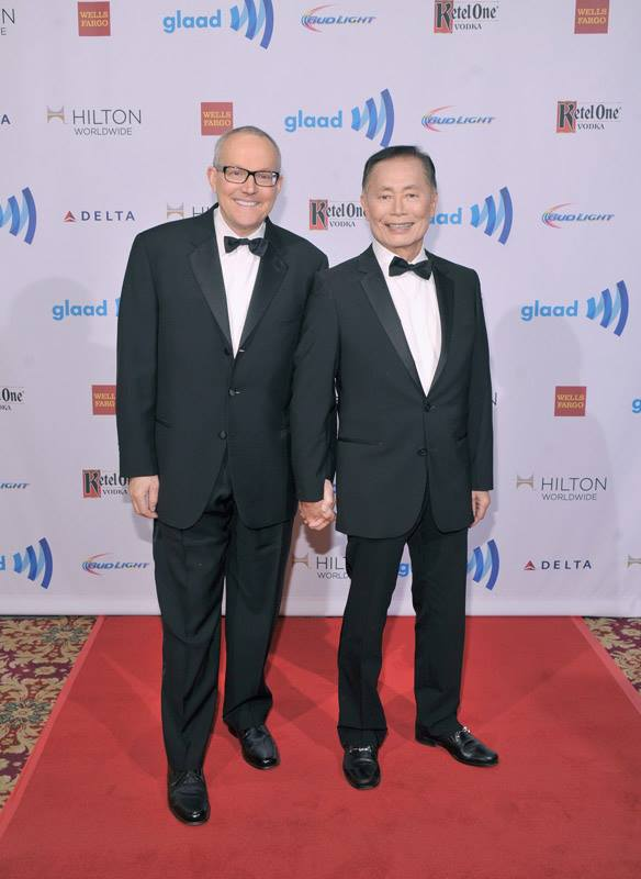 George Takei attends the 25th Annual GLAAD Media Awards in New York City (Photo by StephenLovekin)