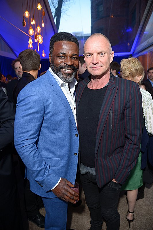 Danny Sapani and Sting attend the premiere screening of the Showtime original series PENNY DREADFUL  (Photo by MichaelLoccisano)