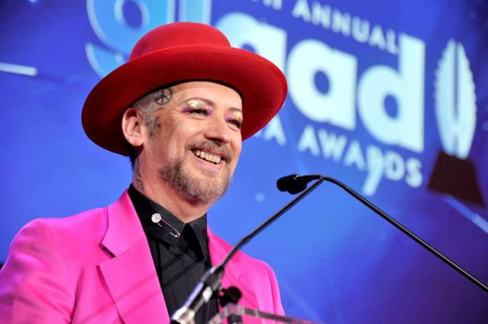 Boy George at the 25th Annual GLAAD Media Awards in New York City (Photo by StephenLovekin)