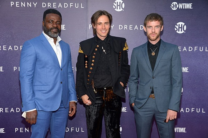 Danny Sapani, Reeve Carney and Harry Treadaway attend the premiere screening of the Showtime original series PENNY DREADFUL (Photo by MichaelLoccisano)
