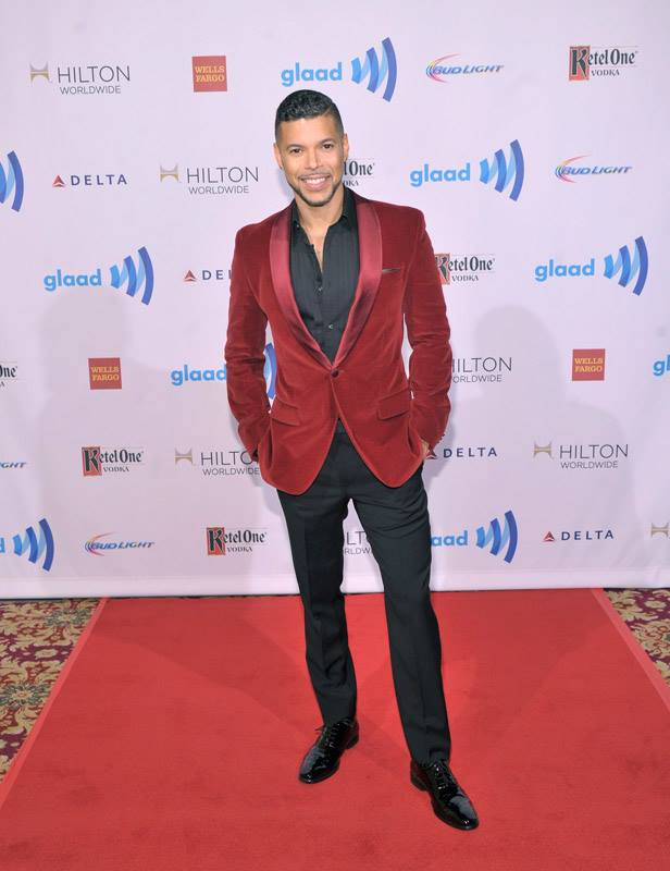 Actor Wilson Cruz attends the 25th Annual GLAAD Media Awards in New York City (Photo by StephenLovekin)