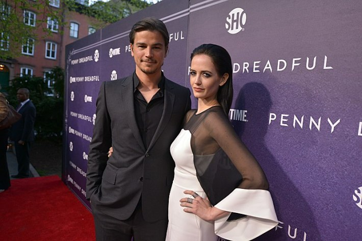 Josh Hartnett and Eva Green attend the premiere screening of the Showtime original series PENNY DREADFUL at the High Line Hotel in New York City (Photo by MichaelLoccisano)