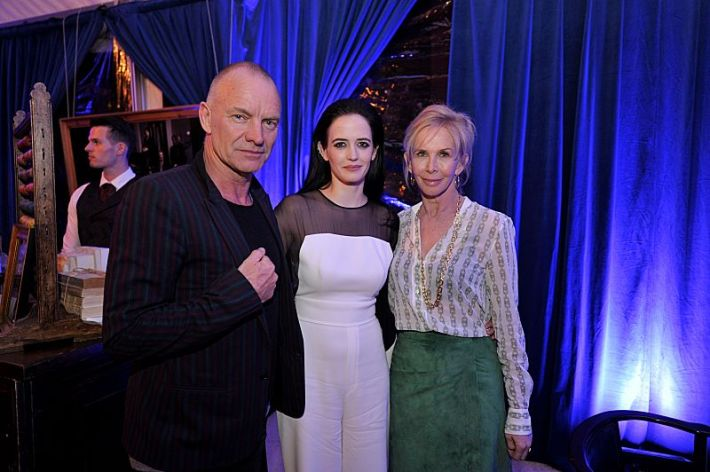 Sting, Eva Green and Trudie Styler attend the premiere screening of the Showtime original series PENNY DREADFUL  (Photo by MichaelLoccisano)