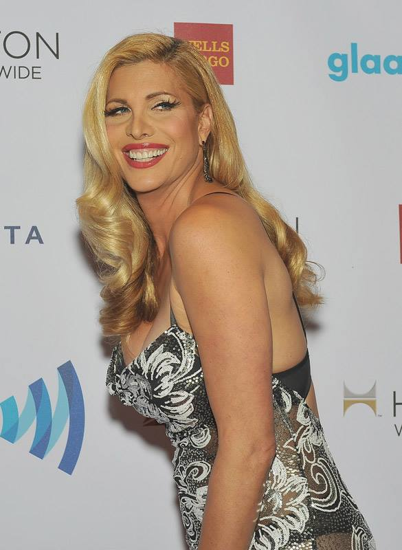 Actress Candis Cayne attends the 25th Annual GLAAD Media Awards in New York City (Photo by StephenLovekin)