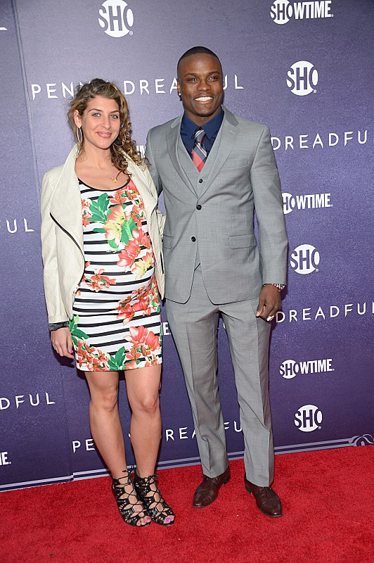 Allison Berger and boxer Peter Quillin attend the premiere screening of the Showtime original series PENNY DREADFUL  (Photo by MichaelLoccisano)