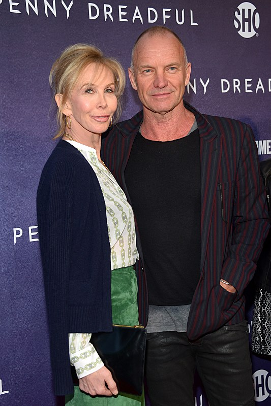 Trudie Styler and Sting attend the premiere screening of the Showtime original series PENNY DREADFUL   (Photo by MichaelLoccisano)