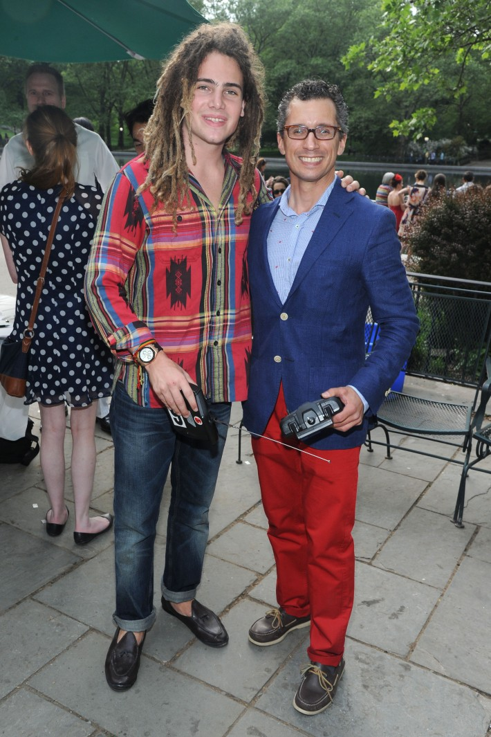 Model Morgan O'Connor  and David Noto attend Altaneve's Mini Regatta at Centrall Park's Boat Pound - Photo by Owen Hoffman (Patrick McMullan)