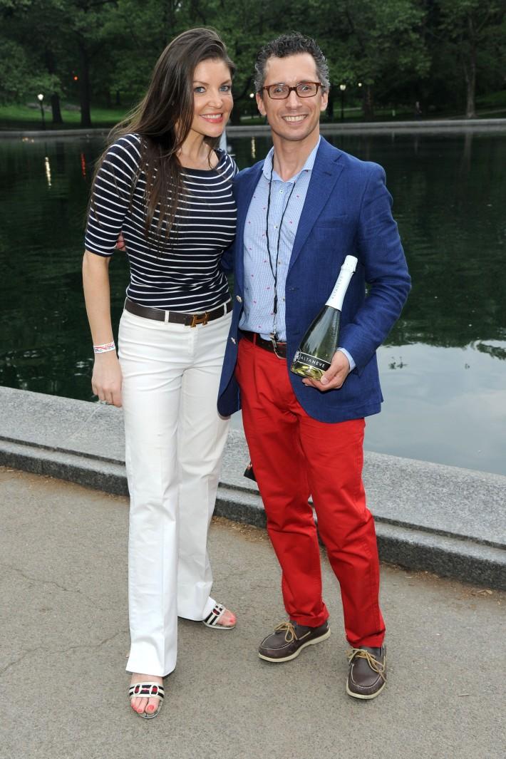 Nicole Noonan, David Noto  attend Altaneve's Mini Regatta at Centrall Park's Boat Pound - Photo by Owen Hoffman (Patrick McMullan)