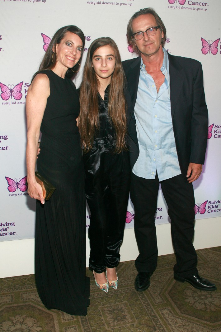 Bonnie Young, Celia Babini, Luca Babini attend the fifth annual Solving Kids' Cancer Spring Celebration at 583 Park Avenue