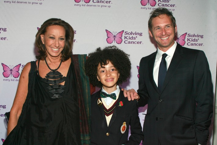 Donna Karan, DJ Fulano Librizzo and Josh Lucas at the Fifth Annual Solving Kids' Cancer Spring Celebration