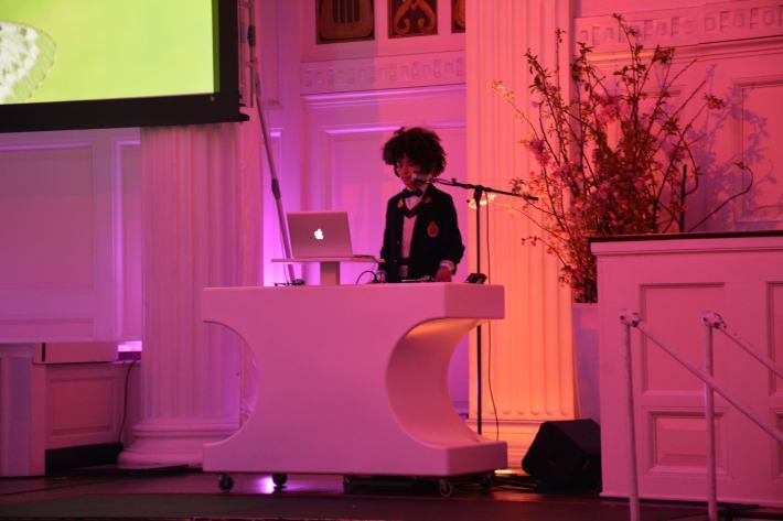 DJ Fulano at the fifth annual Solving Kids' Cancer Spring Celebration at 583 Park Avenu