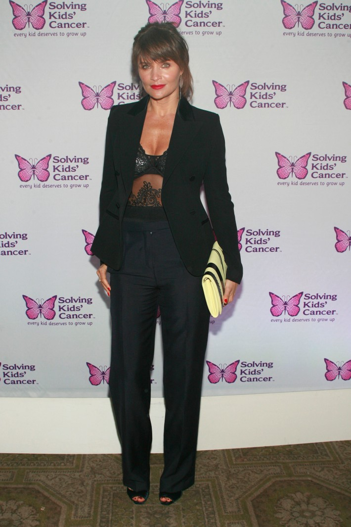 Helena Christensen attends the fifth annual Solving Kids' Cancer Spring Celebration at 583 Park Avenue