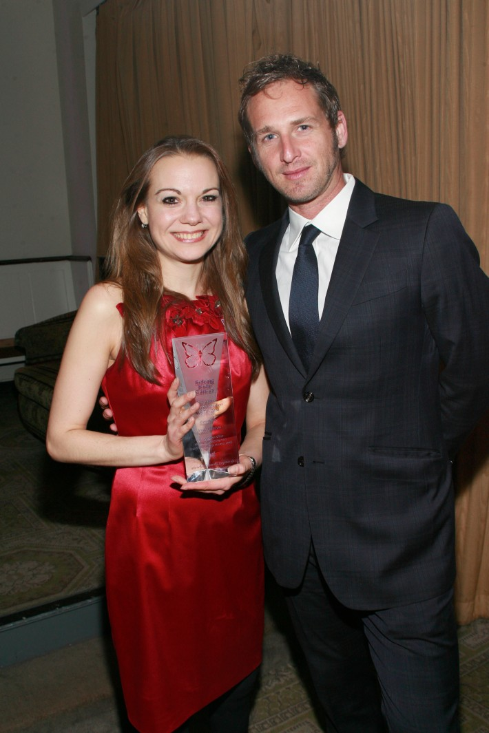 Jessica Melore and Josh Lucas  attend the fifth annual Solving Kids' Cancer Spring Celebration at 583 Park Avenue
