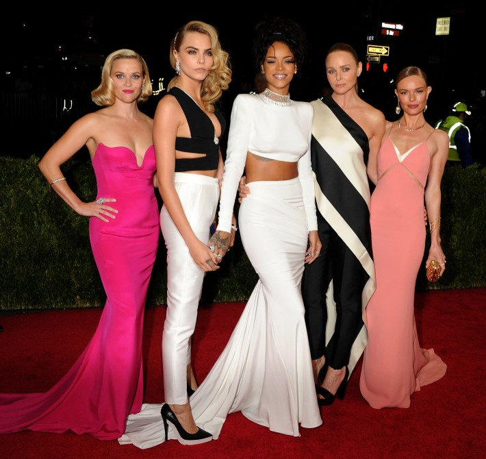 Reese Witherspoon , Cara Delevigne, Rihanna, Stella McCartney and Kate Bosworth attend  the 'Charles James: Beyond Fashion' Costume Institute Gala
