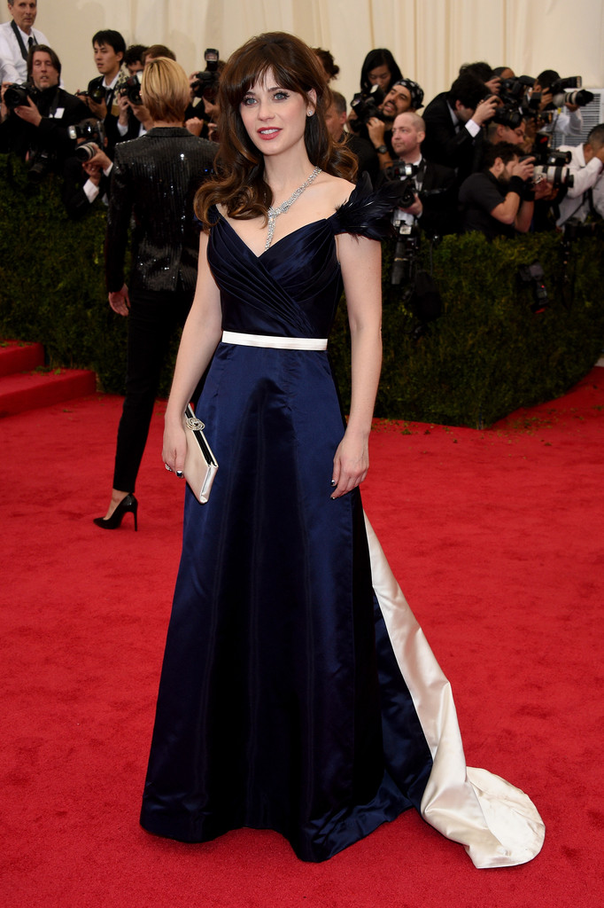 Zooey Deschanel attends 'Charles James: Beyond Fashion' Costume Institute Gala at the Metropolitan Museum of Ar
