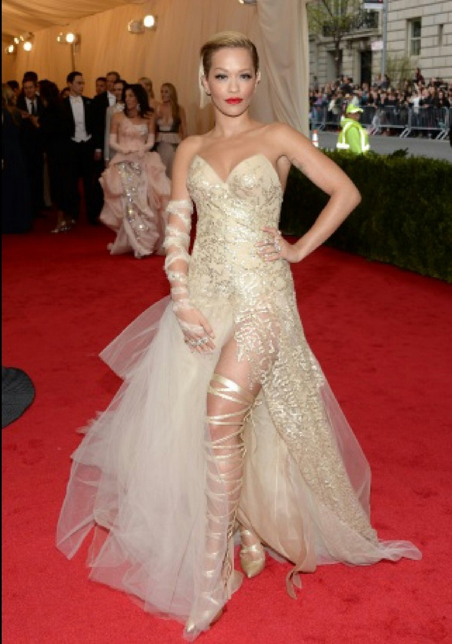 "Rita Ora attends ""Charles James: Beyond Fashion"" Costume Institute Gala"