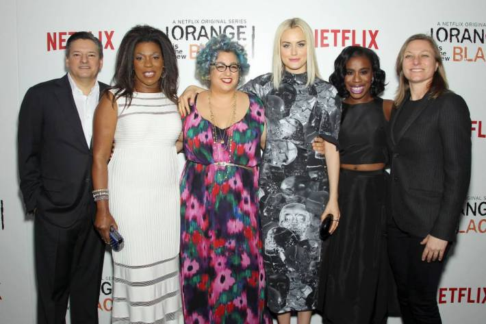 Cast and Crew attend the 'Orange Is The New Black' season two premiere at Ziegfeld Theater