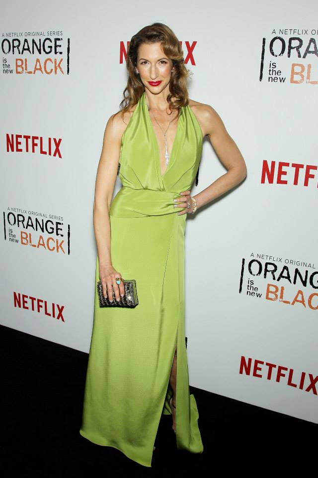 Alysia Reiner attends the 'Orange Is The New Black' season two premiere at Ziegfeld Theater
