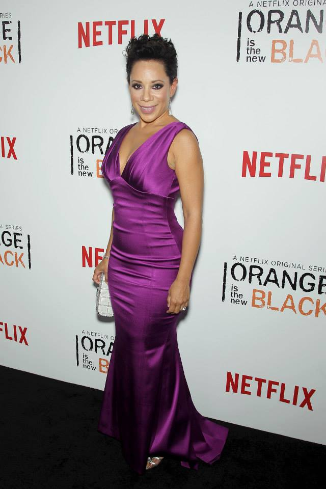 Actress Selenis Levya attends the 'Orange Is The New Black' season two premiere at Ziegfeld Theater
