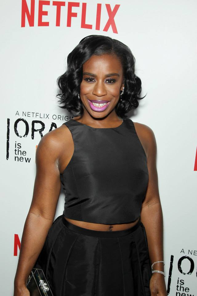 Actress Uzo Aduba attends the 'Orange Is The New Black' season two premiere at Ziegfeld Theater