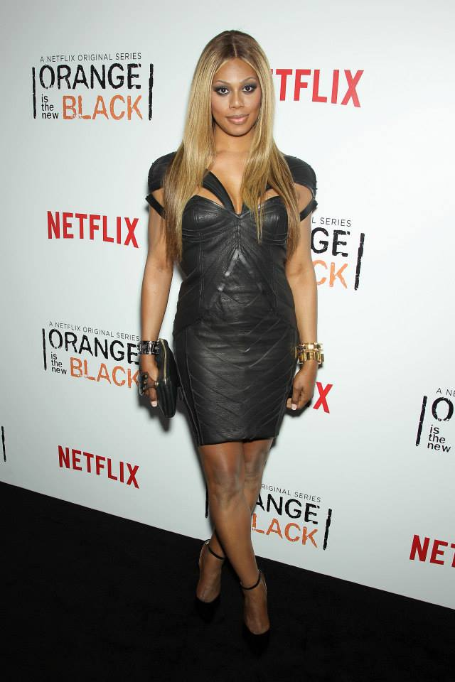 Actress Laverne Cox attends the 'Orange Is The New Black' season two premiere at Ziegfeld Theater