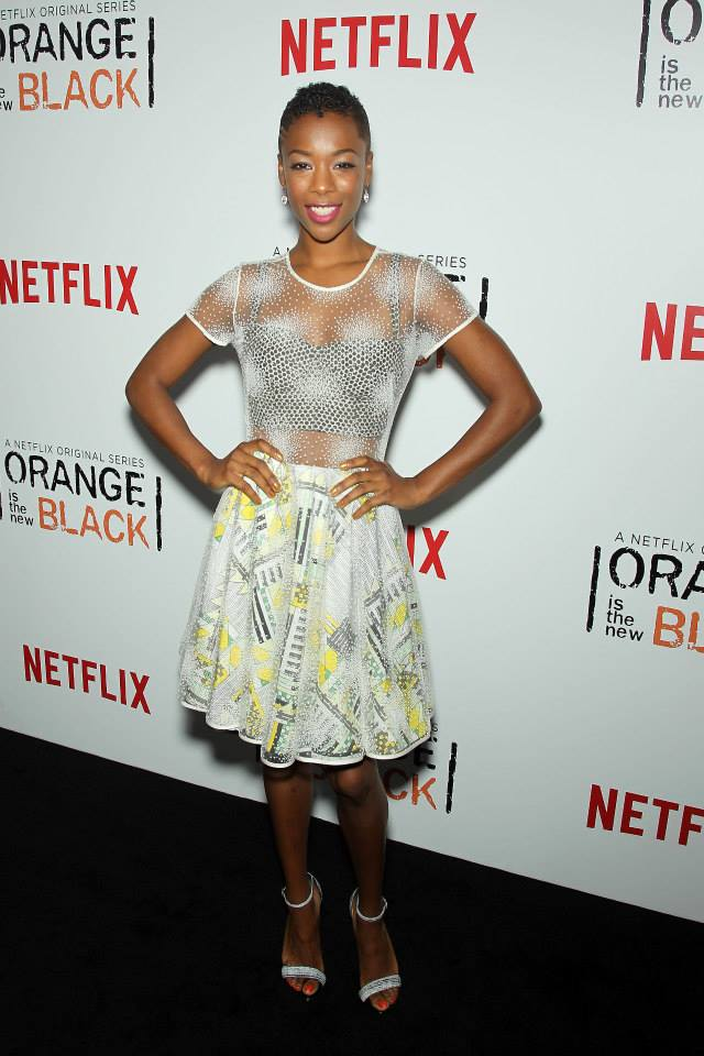 Actress Samira Wiley attends the 'Orange Is The New Black' season two premiere at Ziegfeld Theater