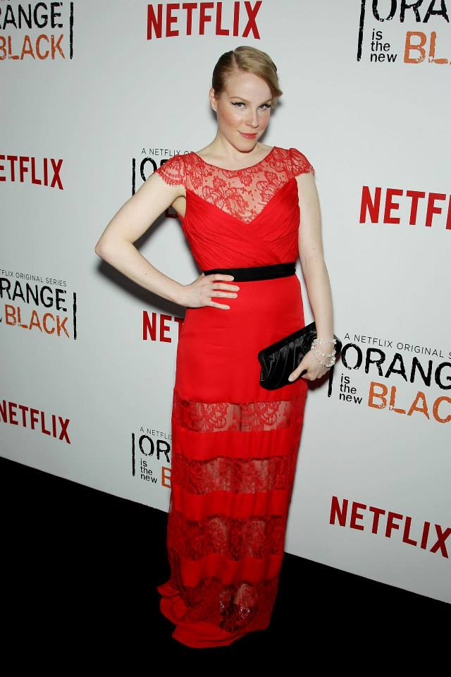 Actress Emma Myles attends the 'Orange Is The New Black' season two premiere at Ziegfeld Theater