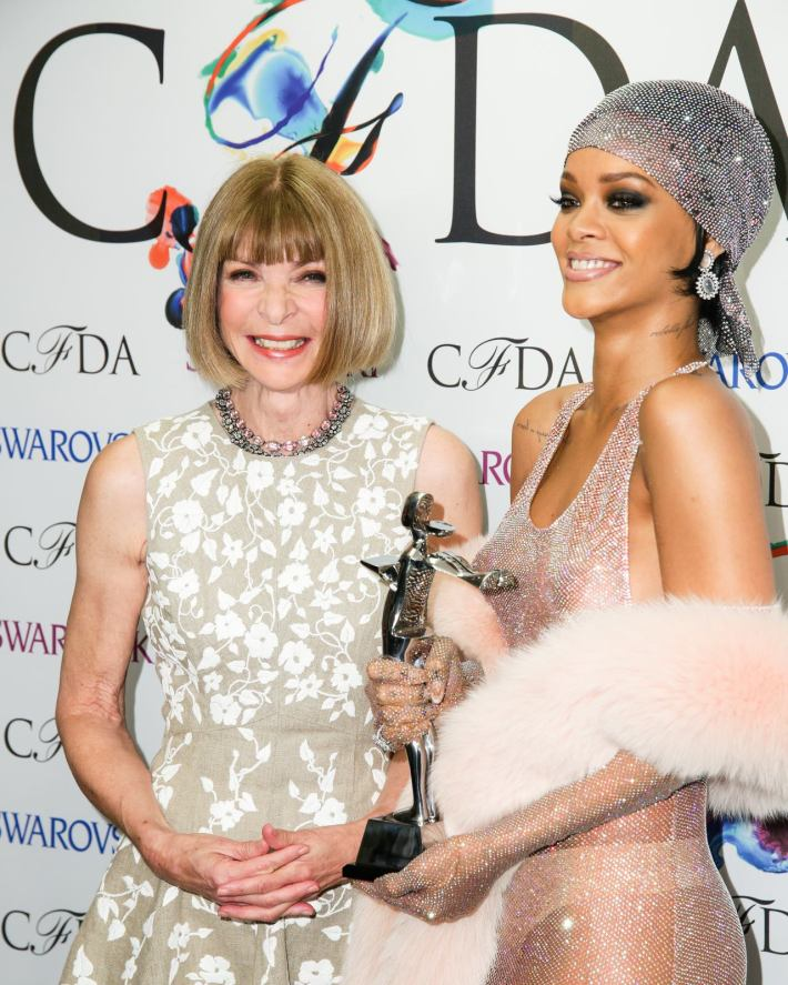 Anna Wintour and Rihanna attend 2014 CFDA Fashion at Alice Tully Hall, Lincoln Center
