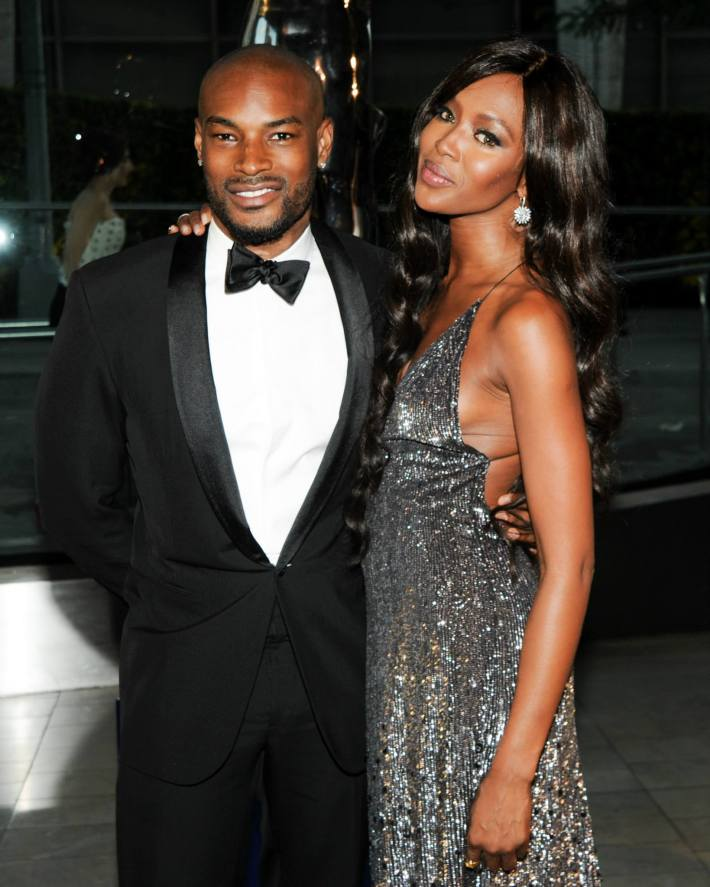 Tyson Beckford and Noami Campbell attend 2014 CFDA Fashion at Alice Tully Hall, Lincoln Center