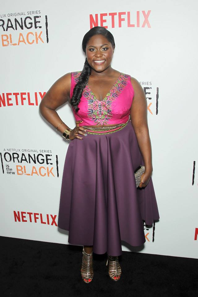 Actress Danielle Brooks attends the 'Orange Is The New Black' season two premiere at Ziegfeld Theater