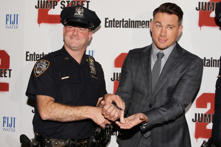 Channing Tatum attends the New York screening of '22 Jump Street' hosted by FIJI Water at AMC Lincoln Square Theater