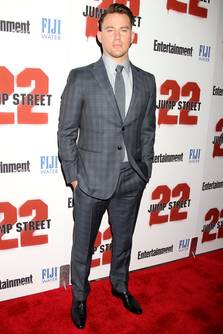 Channing Tatum attends the New York screening of '22 Jump Street' hosted by FIJI Water at AMC Lincoln Square Theate