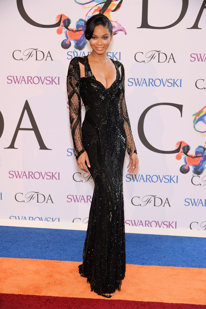 Chanel Iman attends 2014 CFDA Fashion at Alice Tully Hall, Lincoln Center