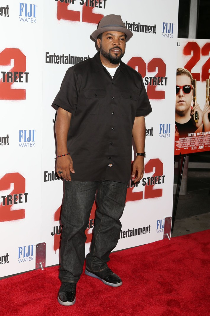 Actor Ice Cube Channing Tatum attends the New York screening of '22 Jump Street' hosted by FIJI Water at AMC Lincoln Square Theater