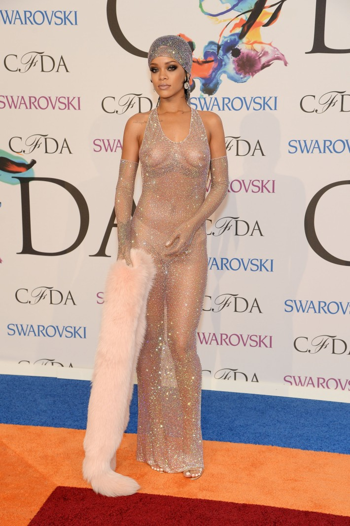 Rihanna attends 2014 CFDA Fashion at Alice Tully Hall, Lincoln Center