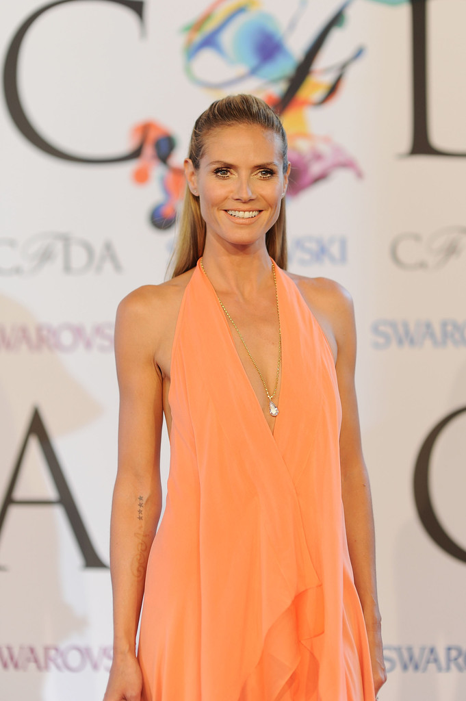 Heidi Klum attends 2014 CFDA Fashion at Alice Tully Hall, Lincoln Center