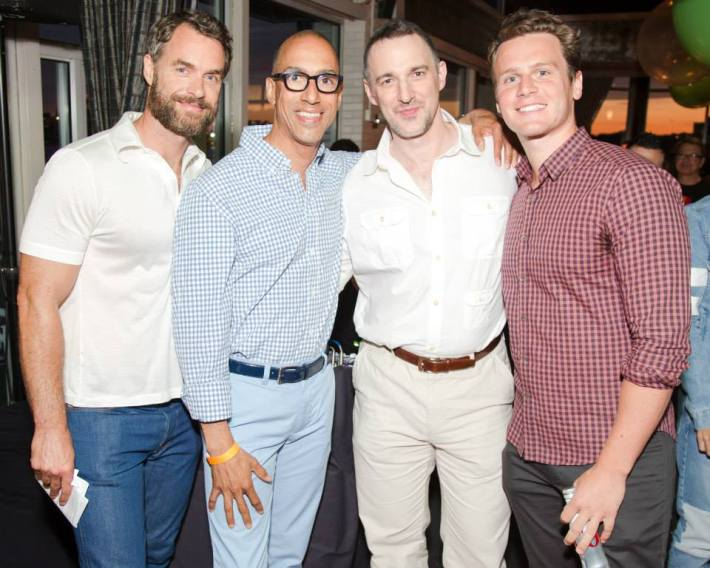 Jonathan Groff, Carl Siciliano, Jeffrey Gray, Murray Bartlett  at Ali Forney Center's 5th Annual OASIS Summer Benefit   (Photo by BenjaminLozovsky)