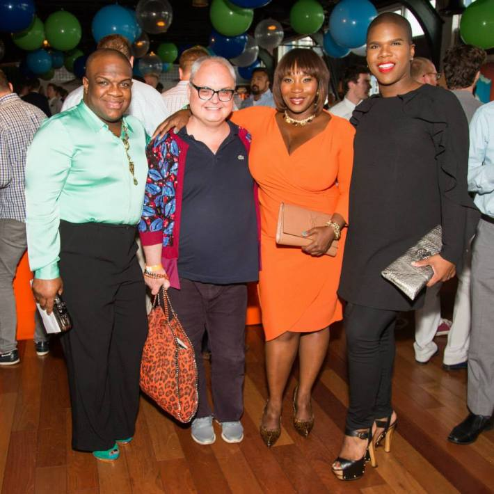 Derek J, Mickey Boardman, Bevy Smith, Miss Lawrence at  Ali Forney Center's 5th Annual OASIS Summer Benefit  (Photo by BenjaminLozovsky)
