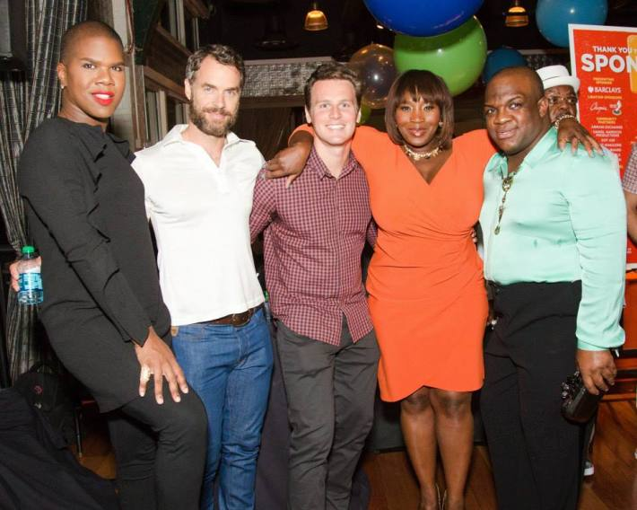 Derek J, Bevy Smith, Jonathan Groff, Murray Bartlett, Miss Lawrence at Ali Forney Center's 5th Annual OASIS Summer Benefit  (Photo by BenjaminLozovsky)